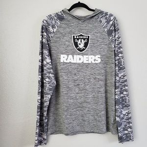 NFL Gray Camo Raiders Hoodie Size Medium